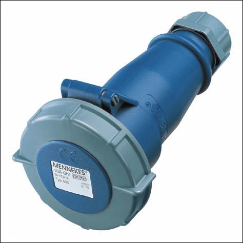 Đầu nối nguồn công nghiệp 16A-3P-230V-6H-IP67