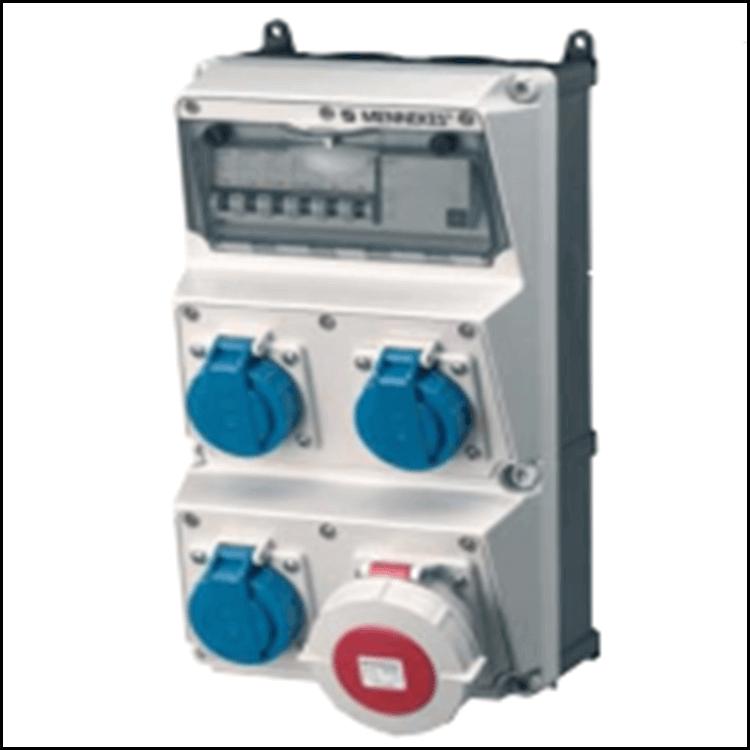 Bộ liên hợp ổ cắm công nghiệp 3x(CEE 16A-3P-230V-IP67) +1x(CEE 32A-5P-400V-IP67)