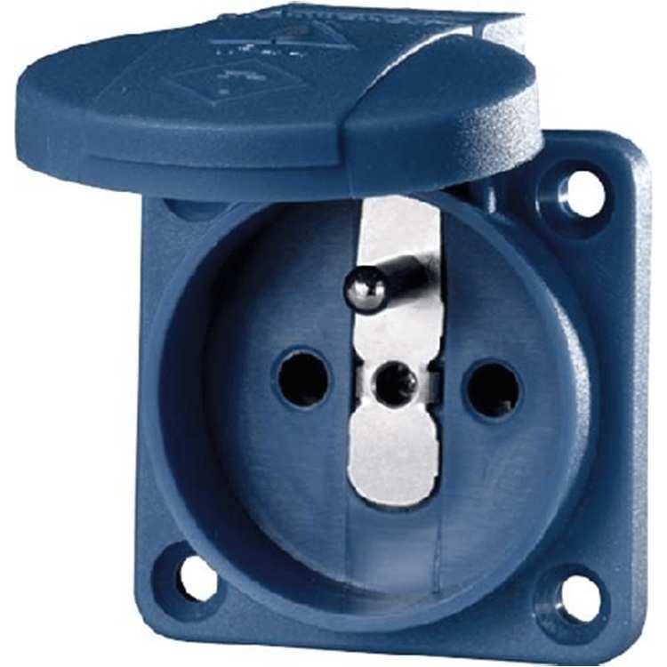 Ổ cắm công nghiệp tiếp xúc an toàn có nắp che 16A-2P + E-230V