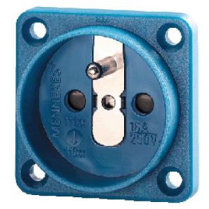 Ổ cắm công nghiệp tiếp xúc an toàn không nắp che 16A-2P + E-230V