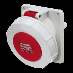 Ổ cắm công nghiệp gắn panel 32A-5P-400V-6H-IP67