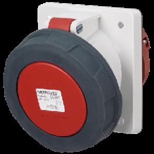 Ổ cắm công nghiệp gắn panel 125A-4P-400V-6H-IP67