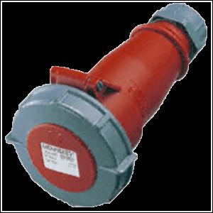 Ổ cắm công nghiệp gắn tường chịu nhiệt 32A-4P-400V-3H-IP67