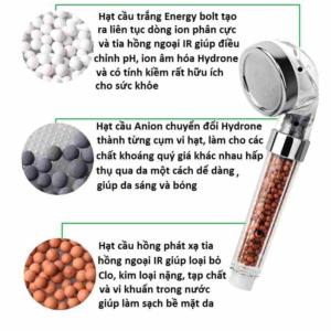 Vòi sen tăng áp Spa Led không dùng pin