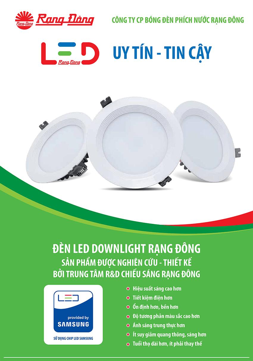 Đèn Led Downlight D AT02L DM 110/9W (Trắng)