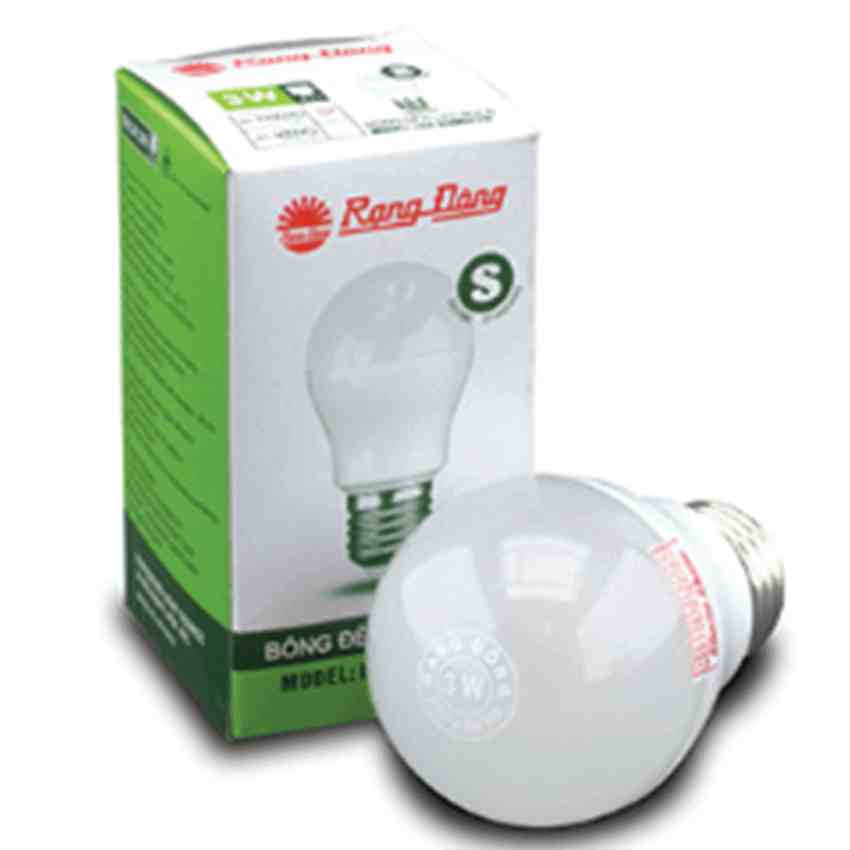 Bóng đèn LED (LED A55N3/5W) E27 ánh sáng trắng
