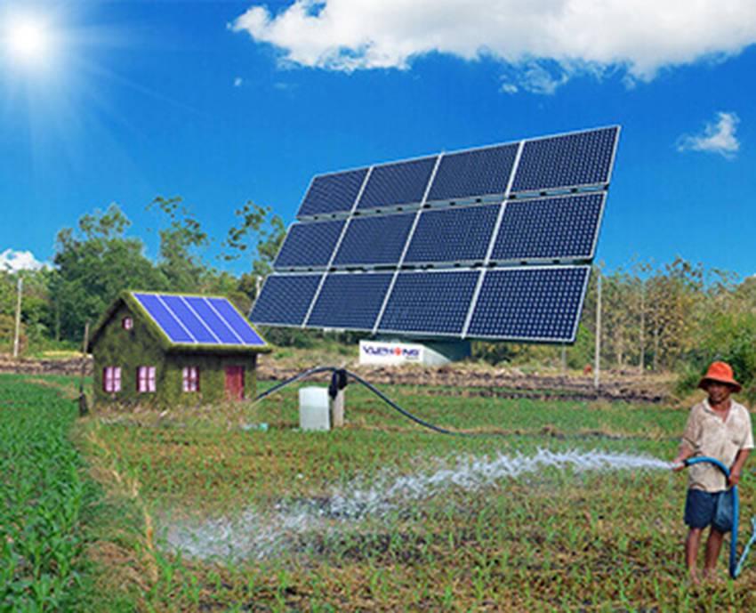 Giải pháp dùng năng lượng mặt trời cho bơm tưới tiêu 2~3HP