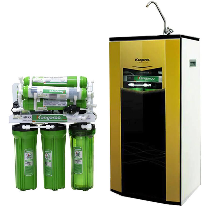 Máy lọc nước Kangaroo 9 lõi vỏ tủ mới KG110 VTU