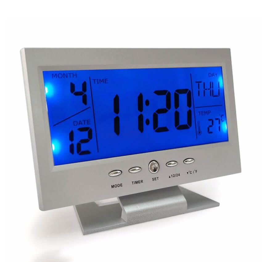 Đồng hồ thông minh điều khiển đèn nền sáng bằng tiếng vỗ tay