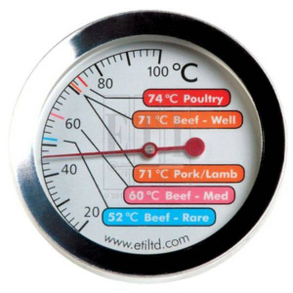 Nhiệt kế nướng thịt với mặt thang đo 60mm đầu dò bằng thép không gỉ