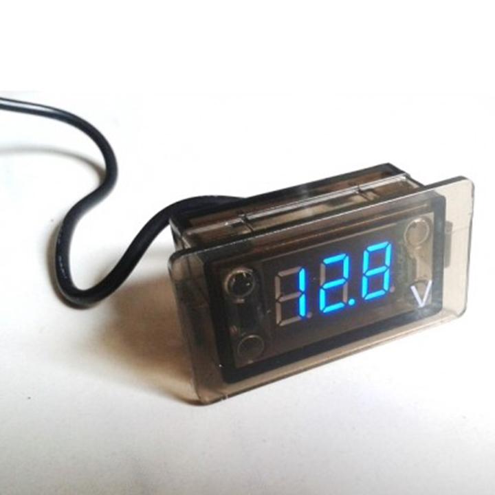 Đồng hồ đo điện áp kỹ thuật số LED DC 12V không thấm nước