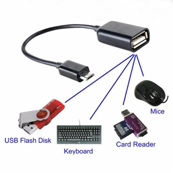 Cáp OTG SK07 chuyển MicroUSB to USB