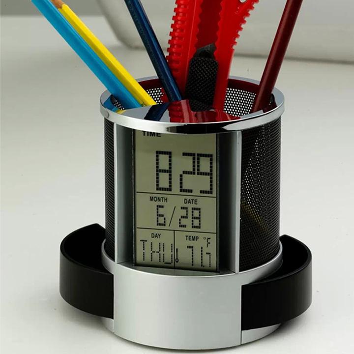 Hộp đựng bút tích hợp đồng hồ