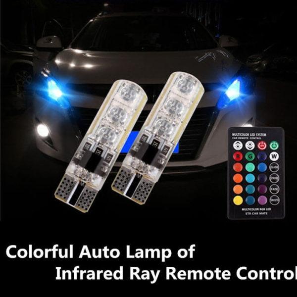 Đèn LED tự động đa sắc điều khiển từ xa bằng hồng ngoại
