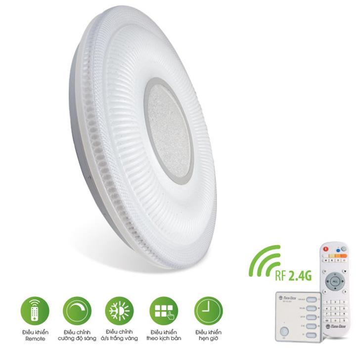 Đèn LED ốp trần 500/40W – điều khiển bằng Remote