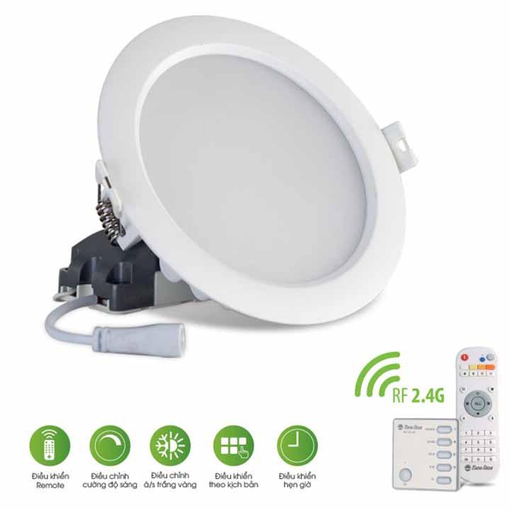 Đèn LED âm trần Downlight 110/9W (Điều khiển bằng Remote)