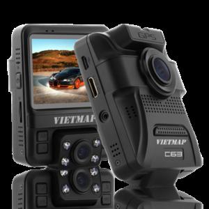 Camera Hành Trình ghi hình Trước & Trong xe Cảnh Báo Thông Tin Giao Thông phát WiFi truyền dữ liệu qua Smartphone VietMap C63