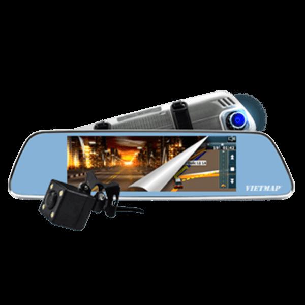 Camera hành trình gương chiếu hậu giám sát trực tuyến VIETMAP IDVR P1